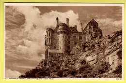 Cornwall - St. Michalel's Mount, The Castle And East Front - Photocrom Postcard - St Michael's Mount
