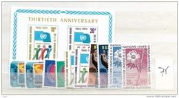 1975 MNH UNO New York,  Year Complete According To Michel, Postfris** - New York -  VN Hauptquartier
