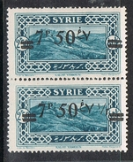 "SYRIE N°182 N*  Variété Surcharge Arabe Chiffre ""1/2"" Absent Tenant à Normal - Syria (1919-1945)"
