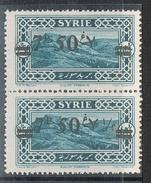 "SYRIE N°182 N**  Variété Surcharge Arabe Chiffre ""1/2"" Absent Tenant à Normal - Syria (1919-1945)"