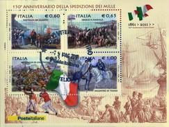 PIA - ITA -REPUBBLICA :  2010 - 150° Anniversario Della Spedizione Dei Mille  -  (SAS  63)