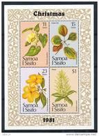 SAMOA Mi.Nr. Block 26 Blumen -MNH