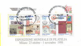 """PIA  -  ITALIE  -  1997  : Esposizione Mondiale Di Filatelia """"Italia  98"""" - Foglietto  -     (SAS  Bf 19 )"""