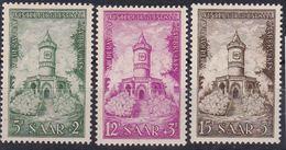 N°355/356/357 ** AU PROFIT DU FONDS DE RECONSTITUTION DES MONUMENTS SARROIS. MONUMENT DE WINTERBERG 1956 - 1947-56 Occupation Alliée