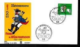 ALLEMAGNE  FDC  1970  Baron Hieronymus Von Munchhausen