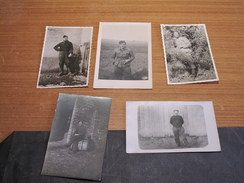 5 PHOTOS MILITAIRES 14/18 Et 40/45 - War, Military