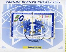 PIA  -  ITALIE  -  2007 : 50° Ella Firma Dei Trattati Di Roma  -     (SAS  Bf 50 )