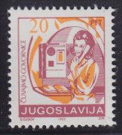 1. Yugoslavia, 1992, Definitive - Postal Service, MNH (**) Michel 2520 - 1992-2003 Federal Republic Of Yugoslavia
