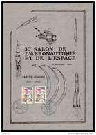 11838/ L'Espace (space Raumfahrt) Document Salon De L'aeronautique Et Le Bourget 21x30 Cm 25/5/1973 Santos Dumont France