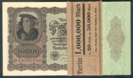 Deutschland, Germany - 50000 Mark, Reichsbanknote, Ro. 78 ,  ( Serie D  ) UNC, 1922 ! - 50000 Mark