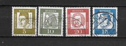 GERMANIA Germany N.  220-223-224-225-/US 1961
