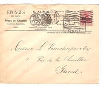 Guerre-Oorlog 14-18 TP Oc 3 S/L.Klimis Eponge Peaux De Chamois Censure & Etappen V.Gand  PR4657 - WW I