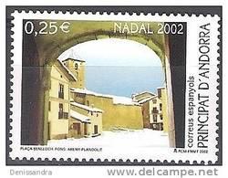 Andorra Español 2002 Yvert 285 Neuf ** Cote (2015) 1.00 Euro Noël Plaça Benlloch