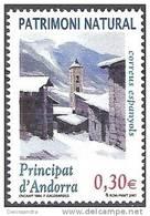 Andorra Español 2007 Yvert 330 Neuf ** Cote (2015) 1.20 Euro Franscesc Galobardes Eglise Sous La Neige