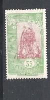 COSTA DEI SOMALI   -1915 -1930 Somali Girl  MNHINGED SOFTLY OR CANCELLED - Côte Française Des Somalis (1894-1967)