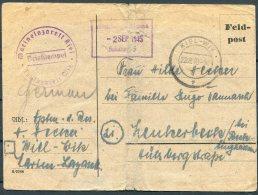 1945 Germany Kiel Feldpostkarte Marinelazarett Censor - Lettres & Documents