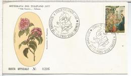 ITALIA 1977 PALLANZA SEMA DEL TULIPAN FLOR FLOWER