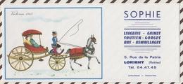 702  BUVARD SOPHIE LORIENT LINGERIE SERIE VIEILLES VOITURES VICTORIA 1865 - Textile & Clothing