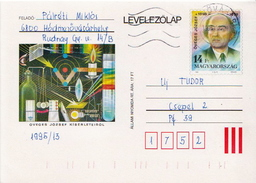 Hungary Used Postal Stationery Card With Physics