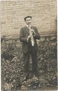 CPA Photo Monsieur Martin BORD Musicien Saxophoniste De PIONNAT (23 Creuse)