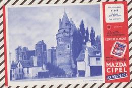 708  BUVARD PILE MAZDA CHATEAU DE VITRE - Piles