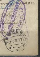 PZ--100-. RARE DOC. PRISONNIERS DE GUERRE, QUELQUES JOURS DE REVOLUTION, MARS 1917, SKOBELEV=TURKESTAN ASIE