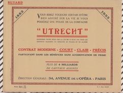 713  BUVARD ASSURANCES UTRECHT PARIS 27.5 X 21.5 - Banque & Assurance