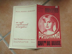 NAPOLI Programma Cinema Teatro FIORENTINI Film EL DORADO John Wayne Robert Mitchum Varie Pubblicità Epoca - Programs