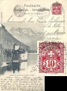 """AK  """"Château De Chillon""""  Lausanne - Châlons Sur Marne           1900"""