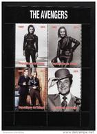THE AVENGERS,BRITISH TV 60´S On SOUVENIR STAMPS SHEET(2015),MNH,Mint,#BA320 - Cinema