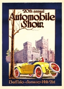 Automobile Show Buffalo 1923 - Postcard - Poster Reproduction - Advertising
