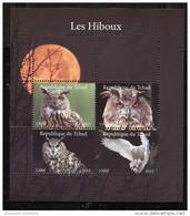 OWL,BIRD Of PREY On SOUVENIR SHEET Of 4 STAMPS (2015),Mint, MNH,#DA122