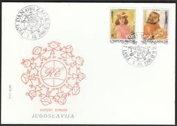 Yugoslavia Zagreb 1988 / Joy Of Europe / Children Meeting / Paintings / Renoir, Ranosovic