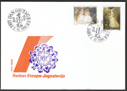 Yugoslavia Zagreb 1990 / Joy Of Europe / Children Meeting / Paintings / Kobilca, Hanneman