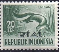 PIA - INDONESIA - 1956-58 : Fauna : Lontra  - (Yv  121) - Marine Life
