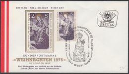 "Austria 1975, FDC Cover ""Christmas 1975"" W./postmark ""Wien"", Ref.bbzg"