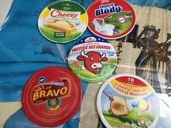 Etiquettes De Boites De Fromages-'' Cheezy-blady-prestige Des Grands-bravo-mountacer'' - Fromage