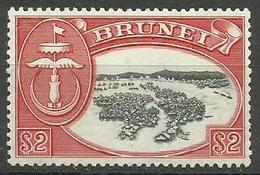 Brunei - 1952 Emblem & River Scene $2 MLH     Sc 95 - Brunei (...-1984)