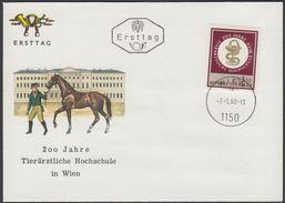 "Austria 1968, FDC Cover ""200 Years Of Highschool Animal Medical Science Vienna"" W./postmark ""Wien"", Ref.bbzg"
