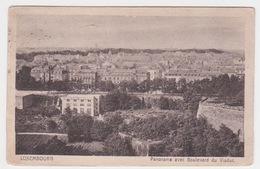 LUXEMBOURG. PANORAMA AVEC BOULEVARD DU VIADUC - Luxembourg - Ville
