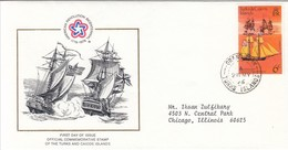 TURKS & CAICOS FDC 353,ships