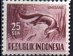 PIA - INDONESIA - 1956-58 : Fauna : Lontra  - (Yv  122) - Marine Life