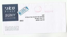 1998 ISRAEL COVER Illus ADVERT Suny TELECOM CO  Meter  Stamps - Telecom