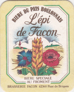 """SOUS BOCK  --- """"L'EPI DE FACON - Bière Du Pays Boulonnais"""" - Photo Recto Et  Verso - Sous-bocks"""