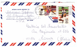 STORIA POSTALE - USA - AMERICA CENTRALE - ANNO 1964 - ELIZABRTH - NJ - VIA AEREA - POSTA AEREA - AIR MAIL - ATLETICA - - Central America