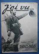 WW I - 14/18 : J'AI VU -1915 : N° SPECIAL ..   CHASSEURS ALPINS -- LES DIABLES BLEUS  . - Kranten