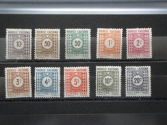 1948  Nouvelle Calédonie Yvert  39 / 48 **  Taxe Scott Xxx Michel P 32 / P 41 SG Xx - Timbres-taxe