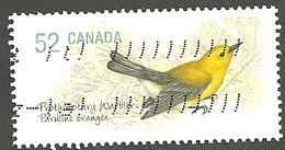 Sc. # 2285a Endangered Species #3, Prothonatory Warbler, Ex. Souvenier Sheet Single Used 2008 K227