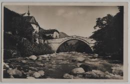 Binn (1389 M) Wallis - Alte Brücke - Phototypie No. 7950 - VS Valais