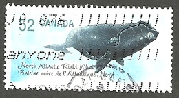 Sc. # 2229a Endangered Species #2, North Atlantic Right Whale, Ex. Souvenier Sheet Single Used 2007 K228